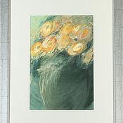 Картины и панно ручной работы. Ярмарка Мастеров - ручная работа Букет чайных роз. Handmade.