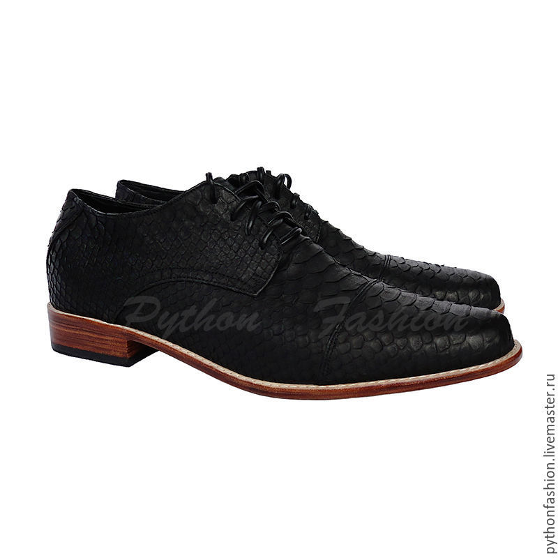 Men's shoes Python skin. Classic men shoes from Python. Men's shoes Python skin. Stylish mens shoes from Python. Men's shoes handmade. Black shoes from Python.