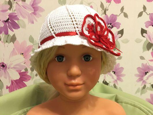 Шапки и шарфы ручной работы. Ярмарка Мастеров - ручная работа. Купить Шляпка для девочки. Handmade. Шляпка для девочки, панамка крючком