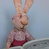Куклы и игрушки ручной работы. Ярмарка Мастеров - ручная работа Зайчик-тедди Розик. Handmade.