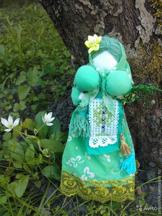 Сувениры ручной работы. Ярмарка Мастеров - ручная работа. Купить Берёзка (кукла-берегиня). Handmade. Салатовый, Березка, кукла-оберег