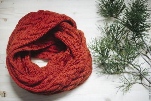 Шарфы и шарфики ручной работы. Ярмарка Мастеров - ручная работа. Купить Снуд вязаный. Handmade. Снуд, снуд женский
