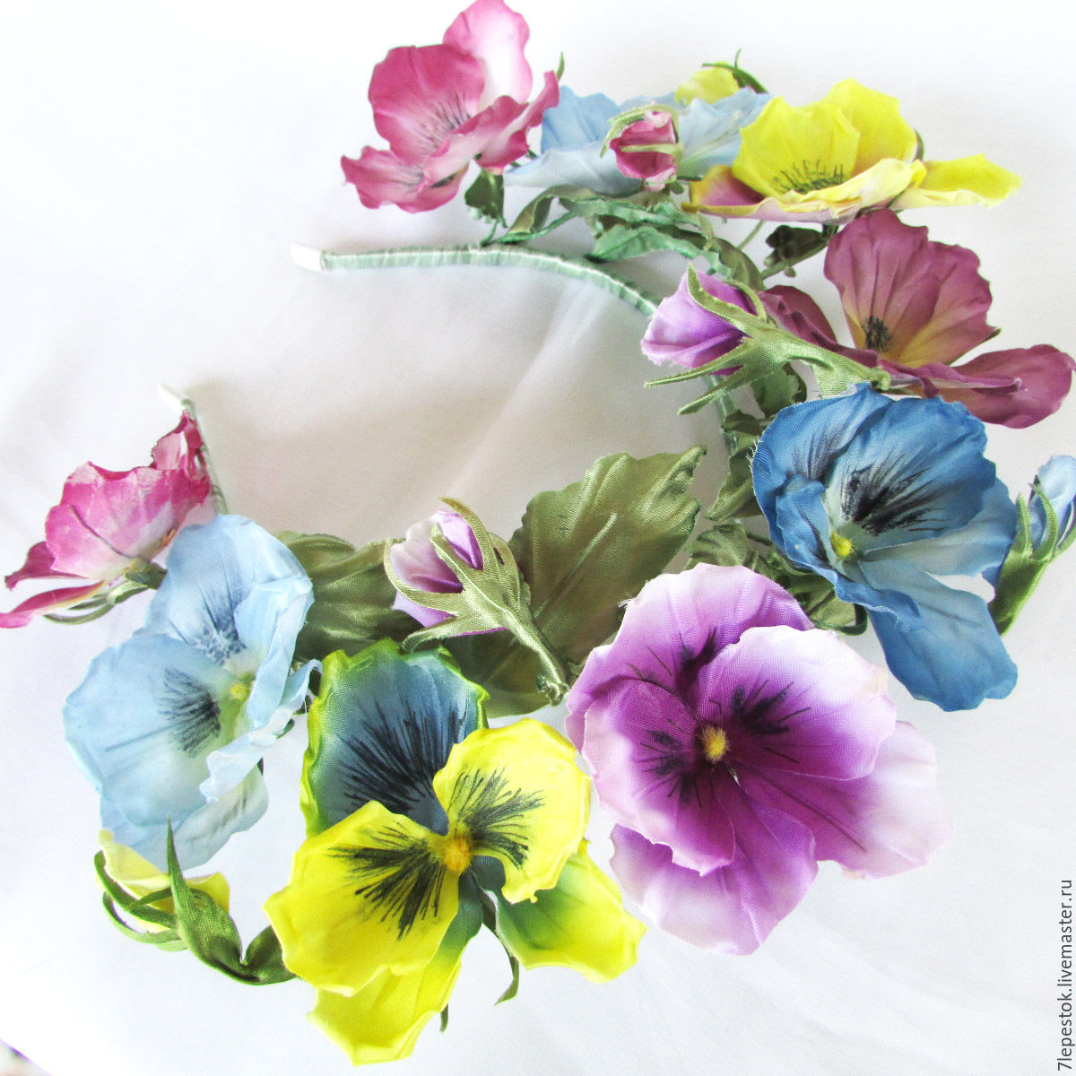 Hair Band Pansies Silk Flowers Shop Online On Livemaster With