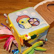 Куклы и игрушки ручной работы. Ярмарка Мастеров - ручная работа Развивающий кубик из фетра 1515. Handmade.