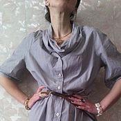 Одежда ручной работы. Ярмарка Мастеров - ручная работа Блузка хлопковая с бантом. Handmade.