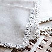 Для дома и интерьера ручной работы. Ярмарка Мастеров - ручная работа Салфетка из льна, 47х47 см. Handmade.