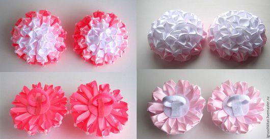 Канзаши Пышный бант - резинки.   Диаметр цветка 10 см. Резинка 3-3,5 см.