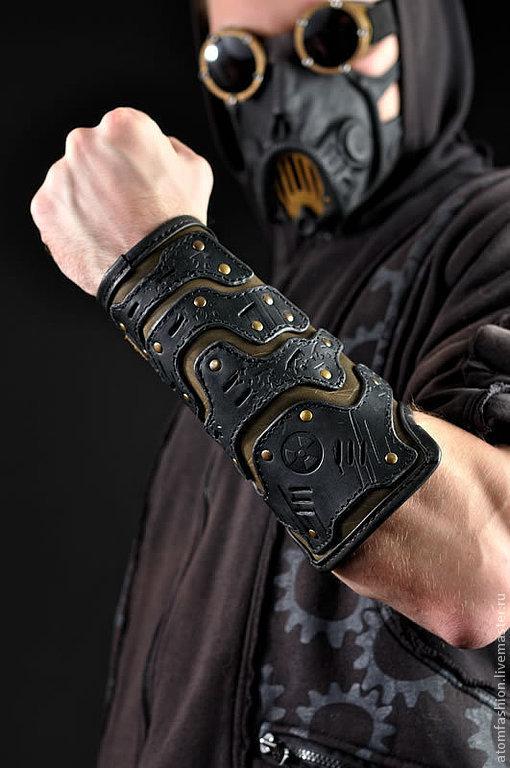 """Готика ручной работы. Ярмарка Мастеров - ручная работа. Купить Наруч кожаный мужской """"Легионер"""". Handmade. Часы наручные, браслет"""