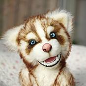 Куклы и игрушки ручной работы. Ярмарка Мастеров - ручная работа Щенок Хаски Тофи. Handmade.
