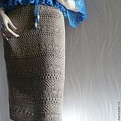 Одежда ручной работы. Ярмарка Мастеров - ручная работа Бежевая вязаная летняя юбка. Handmade.