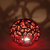 Для дома и интерьера handmade. Livemaster - original item Candle Holder Red Openwork. Handmade.