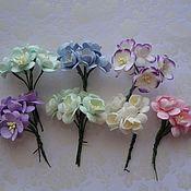 Материалы для творчества ручной работы. Ярмарка Мастеров - ручная работа Цветы вишни  6 расцветок 5 штук. Handmade.