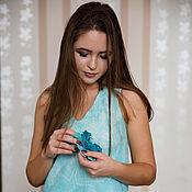 """Одежда ручной работы. Ярмарка Мастеров - ручная работа Валяное платье """"Бирюза"""". Handmade."""