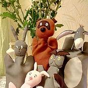 Кукольный театр ручной работы. Ярмарка Мастеров - ручная работа перчаточные куклы из сказки про Винни Пуха.. Handmade.