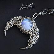 Украшения handmade. Livemaster - original item Pendant with stone, moonstone moonstone melchior