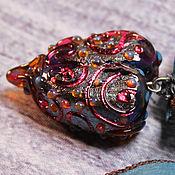 """Украшения ручной работы. Ярмарка Мастеров - ручная работа """"Сердце дракона"""" кулон авторского стекла lampwork. Handmade."""