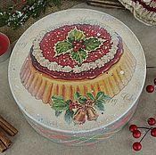 """Для дома и интерьера ручной работы. Ярмарка Мастеров - ручная работа Бонбоньерка """"Рождественский кекс"""". Handmade."""