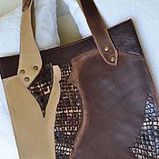 Сумки и аксессуары ручной работы. Ярмарка Мастеров - ручная работа сумка-пакет из кожи. Handmade.