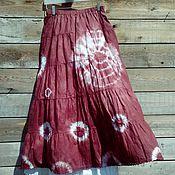 Одежда ручной работы. Ярмарка Мастеров - ручная работа Узелок завяжется, узелок развяжется  - юбка ручного крашения их хлопка. Handmade.