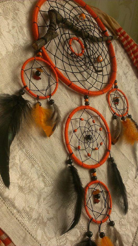 """Ловцы снов ручной работы. Ярмарка Мастеров - ручная работа. Купить Ловец снов """"Снова об оранжевом"""". Handmade. многосоставной"""