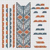 """Материалы для творчества handmade. Livemaster - original item Дизайны для машинной вышивки """"Мозаика_2"""" комплект для мужской сорочки. Handmade."""