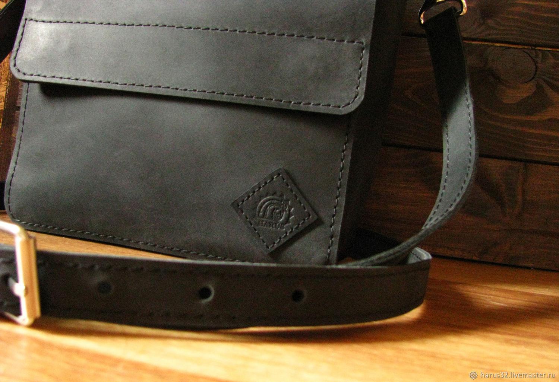 db43b1f08d89 ... Мужские сумки ручной работы. Сумка планшет. Планшетка. Чёрная. Антошкин  Павел (Harus32 ...