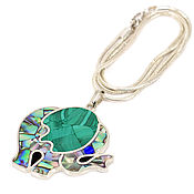 Украшения handmade. Livemaster - original item Pendant Elephant. Malachite and mother of pearl. Pendant natural stones.. Handmade.