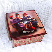 Для дома и интерьера handmade. Livemaster - original item Tea box Fife o clock. Handmade.