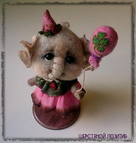 Игрушки животные, ручной работы. Ярмарка Мастеров - ручная работа. Купить Слоник игрушка. Милли с воздушным шариком (для Маргариты). Handmade.