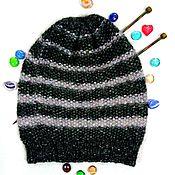 Аксессуары handmade. Livemaster - original item Knitted warm women`s beanie hat two-tone. Handmade.
