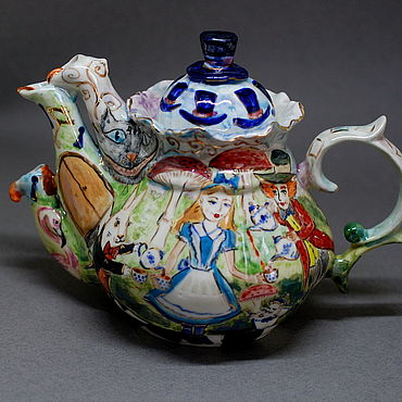 """Посуда ручной работы. Ярмарка Мастеров - ручная работа Чайники: """"Безумное чаепитие"""". Заварочный чайник. Handmade."""