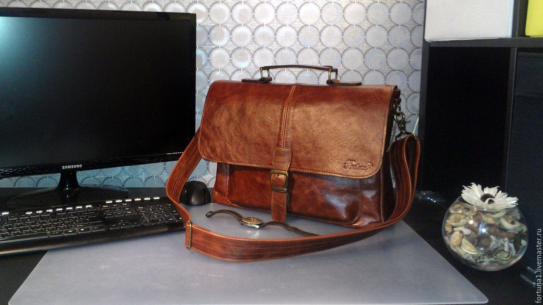 b5686b8b8e7e Мужские сумки ручной работы. Ярмарка Мастеров - ручная работа. Купить Сумка  кожаная мужская 114 ...