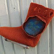 Обувь ручной работы. Ярмарка Мастеров - ручная работа Домашние валеночки-носочки из шерсти. Handmade.