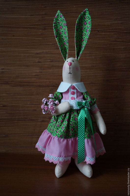 Куклы Тильды ручной работы. Ярмарка Мастеров - ручная работа. Купить Весеннее настроение. Handmade. Комбинированный, заяц текстильный