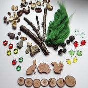 """Куклы и игрушки ручной работы. Ярмарка Мастеров - ручная работа Игровой набор """"Лес2"""" (без песочницы). Сенсорика, моторика, воображение. Handmade."""
