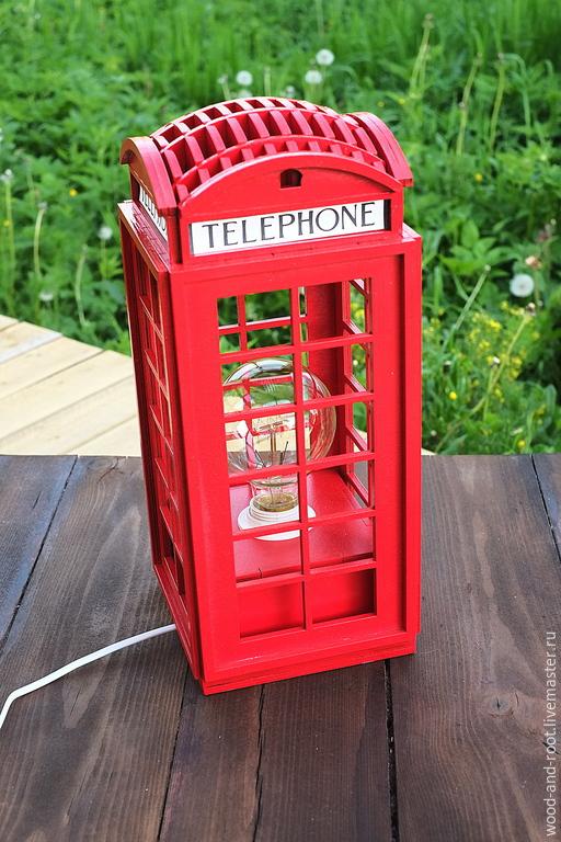 Освещение ручной работы. Ярмарка Мастеров - ручная работа. Купить Светильник Лондонская телефонная будка Telephone Booth. Handmade. светильник