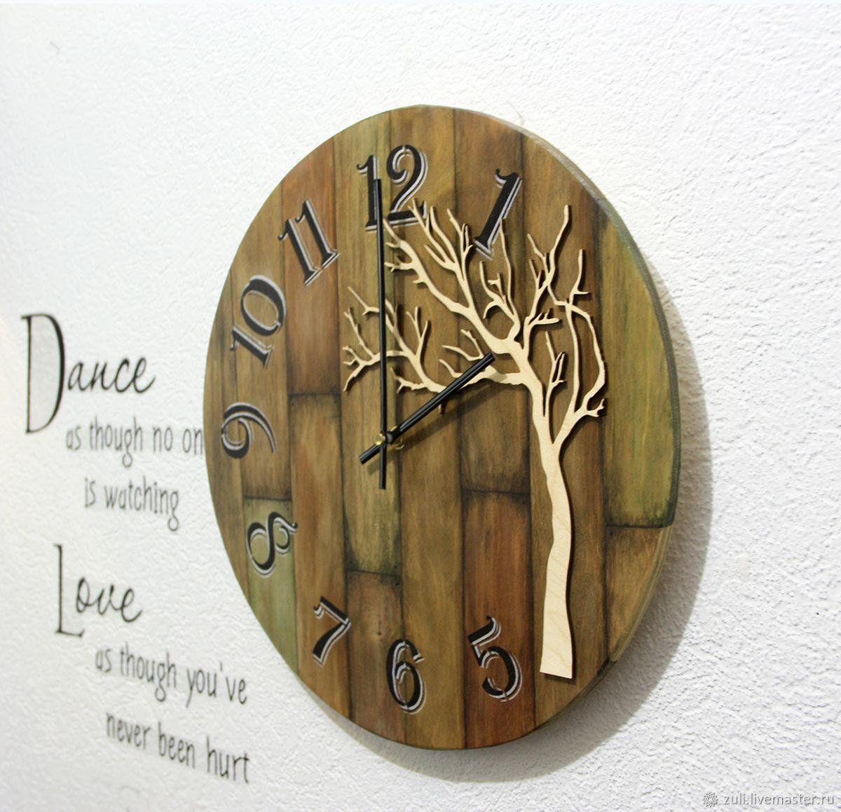 """Часы настенные """"Лофт. Дерево"""" 39 см, Часы классические, Подольск,  Фото №1"""