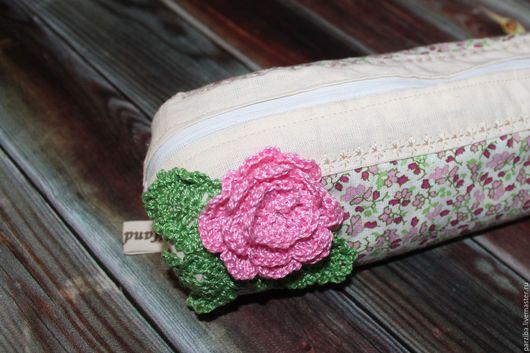 Пеналы ручной работы. Ярмарка Мастеров - ручная работа. Купить пенал для девочки. Handmade. Пенал, пенал из ткани, для школы
