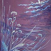 """Картины и панно ручной работы. Ярмарка Мастеров - ручная работа Картина """"Серебряная тишина"""". Handmade."""