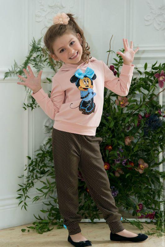 """Одежда для девочек, ручной работы. Ярмарка Мастеров - ручная работа. Купить Костюм """"Минни Маус"""" персик. Handmade. Комбинированный, футер"""