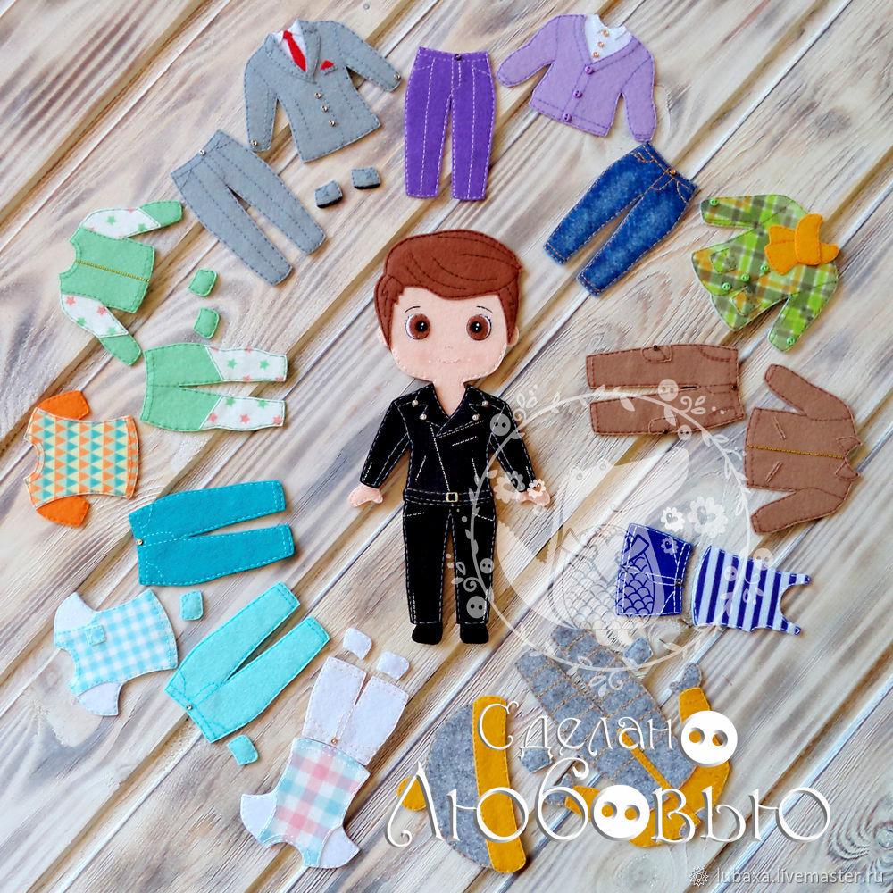 Developing game of felt 'Dress up doll' Boy, Play sets, Vyborg,  Фото №1