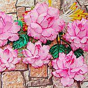 Цветы искусственные ручной работы. Ярмарка Мастеров - ручная работа Набор цветов роз 6 шт. Handmade.