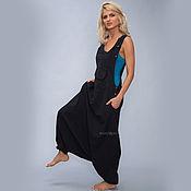 Одежда handmade. Livemaster - original item Black Aladdin jumpsuit in Boho style. Handmade.