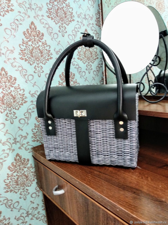 Модная плетеная сумка с кожей, Классическая сумка, Заречный,  Фото №1