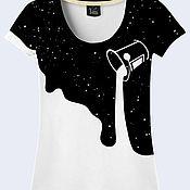 """Одежда ручной работы. Ярмарка Мастеров - ручная работа Женская футболка """"Ведро краски"""". Handmade."""