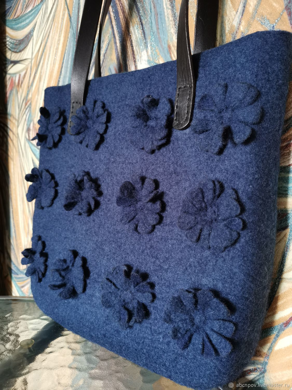 Felt bag based on ' Just Blue 2', Classic Bag, Liski,  Фото №1