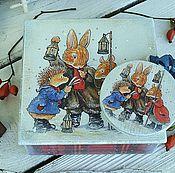 Для дома и интерьера ручной работы. Ярмарка Мастеров - ручная работа Зима в Лисьем лесу.Новогодний набор.. Handmade.