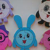Куклы и игрушки ручной работы. Ярмарка Мастеров - ручная работа Малышарики пазлы из дерева (набор). Handmade.