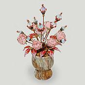 """Цветы и флористика ручной работы. Ярмарка Мастеров - ручная работа Цветы из лунного камня """"Благоухающий сад"""". Handmade."""