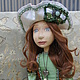 Коллекционные куклы ручной работы. Ярмарка Мастеров - ручная работа. Купить Будуарная кукла Коломбина .. Handmade. Разноцветный, винтажное украшение